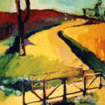 Elena Bouza. Parque del Oeste. Oil on canvas. 100 x 81 inches. 2003